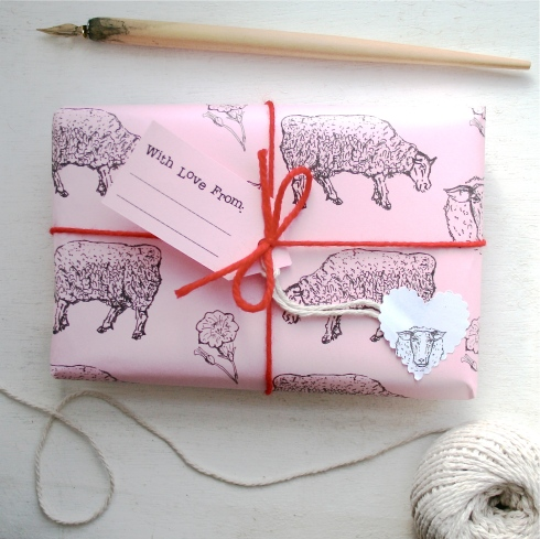 Mini Gift Wrap Set Pink