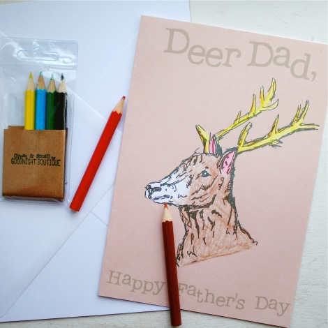 Colour In Deer Card 2