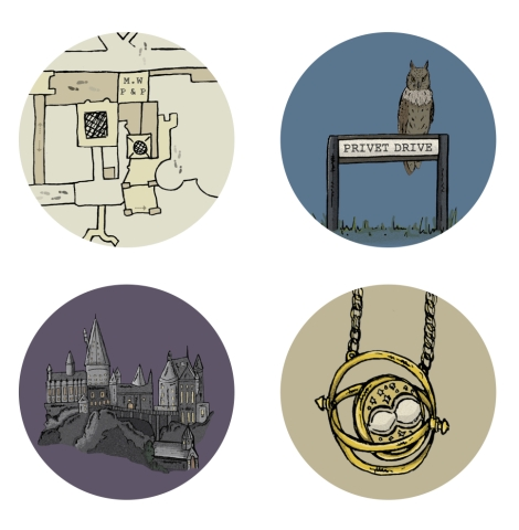 Harry Potter Pocket Mirrors