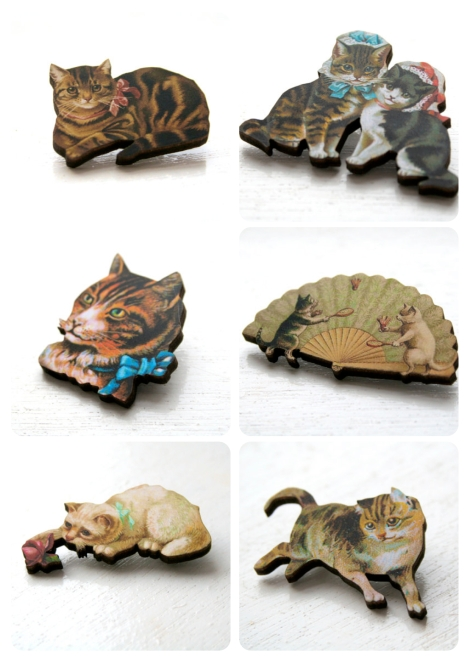 Xmas Stock - Cat Brooches?
