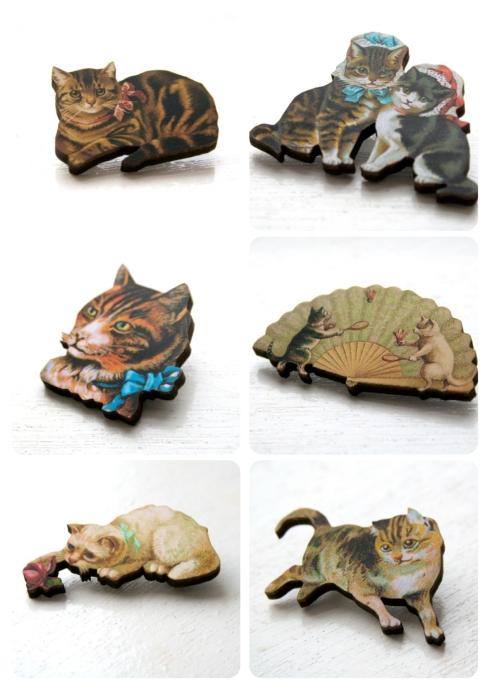 Xmas Stock - Cat Brooches?